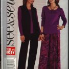Butterick Sewing Pattern 3943 Misses Size 20-22-24 Easy Vest Top Skirt Pants