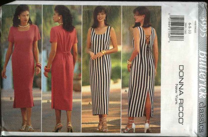 Butterick Sewing Pattern 3995 Misses Size 6-8-10 Easy Classic Straight Dresses