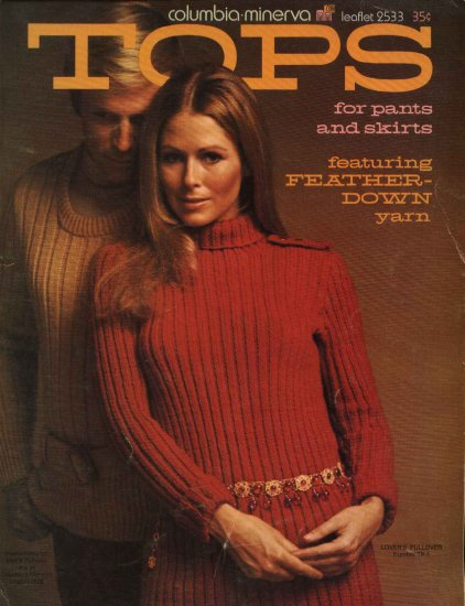 Columbia-Minerva #2533 Tops Misses Men�s Knit Crochet Sweaters