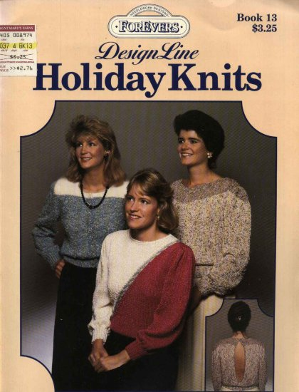 Design Line Holiday Knits #13 Three Misses Sweaters Knitted
