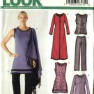 New Look Sewing Pattern 6215 Misses Size 8-18 Wardrobe Top Dress Skirt  Pant Shawl