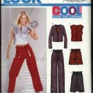 New Look Sewing Pattern 6226 Junior Size 3/4-13/14 Exercise Workout Pants Tops Skirt Shorts
