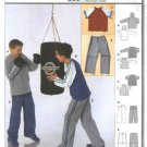 Burda Sewing Pattern 9811 Boys Size 7-12 T-shirts Jackets Pants Workout Exercise Hoodie