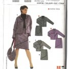 Burda Sewing Pattern 8162 Misses Size 12-24 Jacket Mock Wrap Skirt