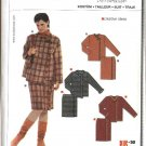 Burda Sewing Pattern 8163 Misses Size 10-24 Easy Jacket Mock Wrap Skirt