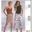 Burda Sewing Pattern 8343 Misses Size 10-22 Yoked Skirt Capri Pants