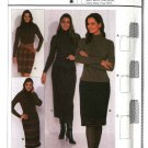 Burda Sewing Pattern 8566 Misses Size 8-18 Easy  Fitted Straight Skirts