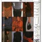 Burda Sewing Pattern 8596 Misses Size 8-20 Fashion Accessories Belts Scarf Purses Bags Handbags