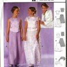 Burda Sewing Pattern 9805 Junior Girls Size 8-14jr Formal Two-Piece Dress Top Skirt Bolero Shrug