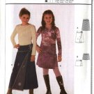 Burda Sewing Pattern 9814 Size 7-14jr Junior Girls Easy Yoke Wrap Skirts