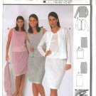 Burda Sewing Pattern 8899 Misses size 8-20 Easy Cardigan Shell Top Straight Skirt