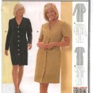 Burda Sewing Pattern 8983 Misses Petite Sizes 10-22 Easy Straight Front Button Dress