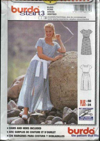 Burda Sewing Pattern 8985 Misses Sizes 10-24 Pullover Dress