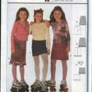 Burda Sewing Pattern 9813 Girls Size 7-12 A-Line Skirt Mini-skirt Belt