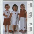 Burda Sewing Pattern 9858 Girls Size 9 month - 3 years Easy Dress Top Pants Shorts