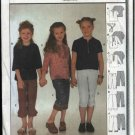 Burda Sewing Pattern 9947 Girls size 6-10 Easy Tops Pants Belt