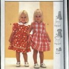 Burda Sewing Pattern 9981 Girls Size 6 month - 3 years Easy Classic Dress Bloomers