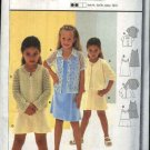 Burda Sewing Pattern 9996 Girls Size 4-10 Easy Dress Jacket Blouse