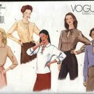Vogue Sewing Pattern 2488 Misses Size 14-16-18 Easy Basic Long Sleeve Blouse