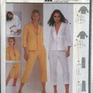 Burda Sewing Pattern 8810 Misses Sizes 8-18 Pantsuit Jacket Top Capri Pants