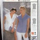 Burda Sewing Pattern 8919 Misses Sizes 10-24 Easy Classic Button Front Blouse Shirt