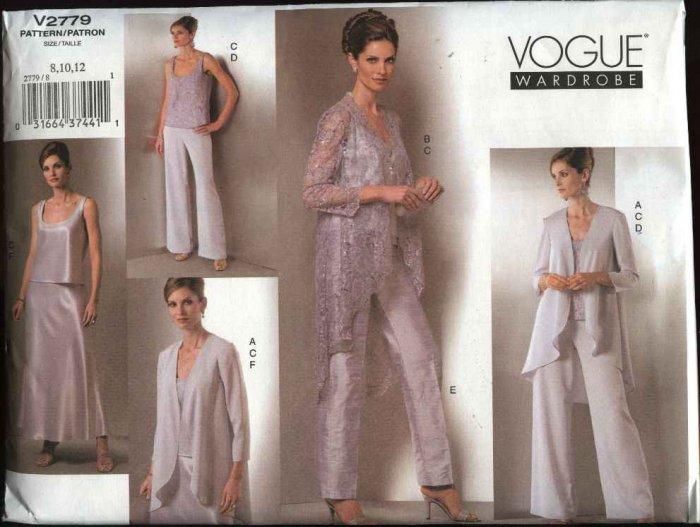 Vogue Sewing Pattern 2779 Misses Size 20-22-24 Formal Wardrobe Jacket Top Pants Skirt