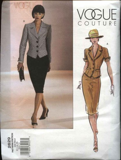 Vogue Sewing Pattern 2629 Misses size 18-20-22 Couture Skirt Jacket Top