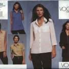 Vogue Sewing Pattern 2634 Misses size 6-8-10 Classic Easy Shirt Top Blouse