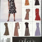 Vogue Sewing Pattern 2654 Misses Size 8-12 Easy Flared Skirt Blouse Peplum Top