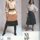 Vogue Sewing Pattern 2733 Misses Size 6-8-10 NYNY Tiered Skirt Button Front Shirt Sleeve Options