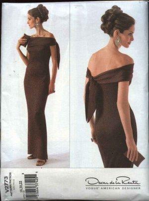 Vogue Sewing Pattern 2773 Misses size 18-20-22 Oscar de la Renta Evening Gown Formal Dress