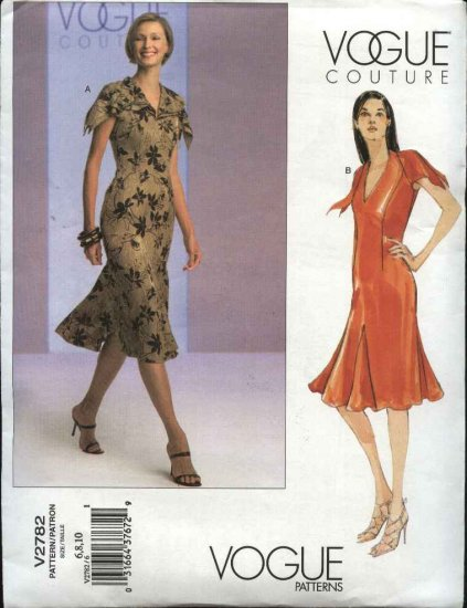 Vogue Sewing Pattern 2782 Misses size 6-8-10 Couture Summer Lined Dress