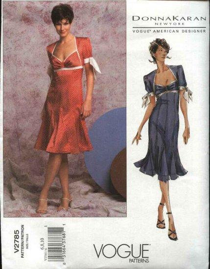 Vogue Sewing Pattern 2785 Misses Size 18-20-22 Donna Karan Spring Summer Dress