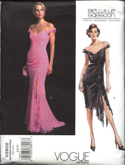 Vogue Sewing Pattern 2802 Misses Size 18-20-22 Bellville Sassoon Evening Gown Formal Dress