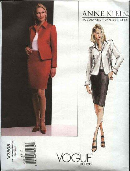 Vogue Sewing Pattern 2808 Anne Klein Misses size 6-8-10 Suit Skirt Jacket