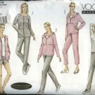 Vogue Sewing Pattern 2816 Misses Size 8-10-12 Easy Wardrobe Sweatsuit Pants Top Shorts Jacket