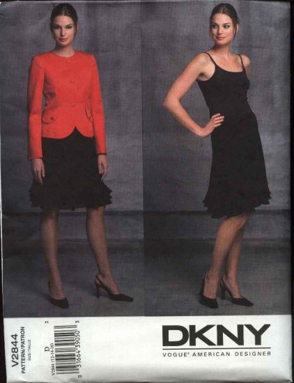 Vogue Sewing Pattern 2844 Misses size 6-8-10 DKNY Skirt Jacket