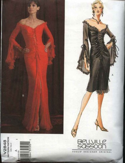 Vogue Sewing Pattern 2848 Misses size 6-8-10 Bellville Sassoon Evening Gown Formal Dress