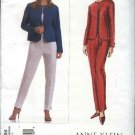 Vogue Sewing Pattern 2855 Misses size 6-8-10 Easy Anne Klein Jacket Pants Pantsuit