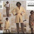 Vogue Sewing Pattern 2857 Misses Size 8-10-12 Easy Wardrobe Top Skirt Pants Jacket