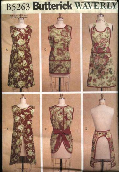 Butterick Sewing Pattern 5263 Misses Size 8-18 (S-L) Aprons