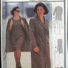 Burda Sewing Pattern 2581 Women's Plus Sizes 18-30 Classic Lined Coat Sleeveless Dress suit