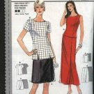 Burda Sewing Pattern 3229 Misses Sizes 8-18 Easy Two Piece Dress Top Mock Wrap Skirt Tunic