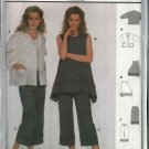 Burda Sewing Pattern 8642 Misses Sizes 10/12-22/24 Easy Jacket Top Capri Pants