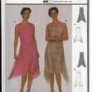 Burda Sewing Pattern 8648 Misses Size 10-20 Easy Layered Dress Asymmetrical Hemline