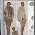Burda Sewing Pattern 8715 Misses Size 12-22 Easy Suit Jacket Skirt Top Blouse