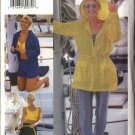 Vogue Sewing Pattern 7092 Misses Size 6-8-10-12-14 Wardrobe Jacket Crop Top Pants Unitard Shorts
