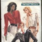 Retro Vogue Sewing Pattern 7099 Misses size 8 Easy Blouses Tops