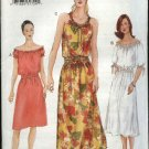 Vogue Sewing Pattern V7283 7283 Misses Size 8-12 Easy Peasant Summer Dress