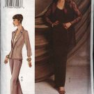Vogue Woman Sewing Pattern 7520 Misses Size 6-8-10 Jacket Camisole Skirt Pants Suit